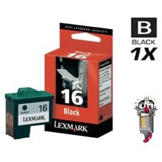 Lexmark #16 10N0016 Black Inkjet Cartridge Remanufactured