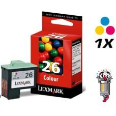 Lexmark #26 10N0026 Color Inkjet Cartridge Remanufactured