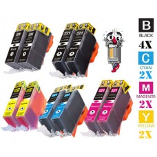 10 Piece Bulk Set Canon PGI220 CLI221 combo Ink Cartridges Remanufactured