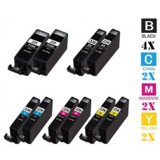 10 Piece Bulk Set Canon PGI225 CLI226 combo Ink Cartridges Remanufactured