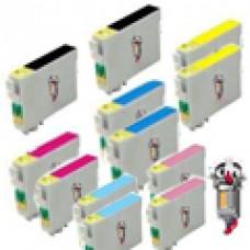 12 Piece Bulk Set Epson T048 combo Ink Cartridges Remanufactured