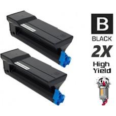 2 Piece Bulk Set Okidata 43979201 High Yield Black combo Laser Toner Cartridge Premium Compatible