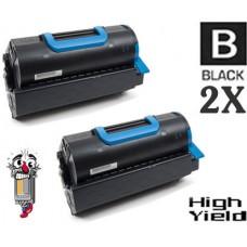 2 Piece Bulk Set Okidata 45460509 High Yield Black combo Laser Toner Cartridge Premium Compatible