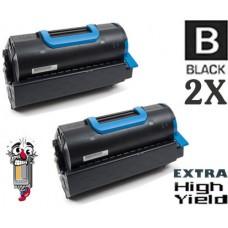2 Piece Bulk Set Okidata 45460510 Extra High Yield Black combo Laser Toner Cartridge Premium Compatible