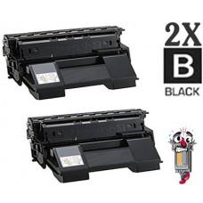 2 Piece Bulk Set Okidata 52114501 Black combo Laser Toner Cartridge Premium Compatible
