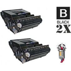 2 PACK Okidata 52116002 Black combo Laser Toner Cartridge