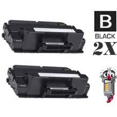 2 Piece Bulk Set Dell 593-BBBJ (C7D6F) Black combo Laser Toner Cartridge Premium Compatible