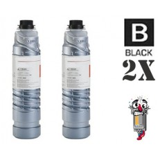 2 Piece Bulk Set Ricoh 885400 841332 (Type 6110D) Black combo Laser Toner Cartridge Premium Compatible