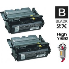 2 PACK Lexmark 64015HA High Yield Toner Cartridges Premium Compatible