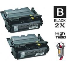 2 PACK Lexmark 64415XA High Yield Toner Cartridges Premium Compatible