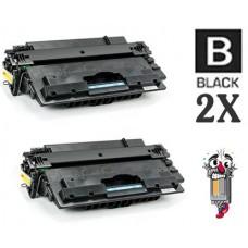 2 Piece Bulk Set Hewlett Packard CF214A HP14A combo Laser Toner Cartridge Premium Compatible