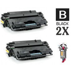 2 Piece Bulk Set Hewlett Packard CF214X HP14X combo Laser Toner Cartridge Premium Compatible