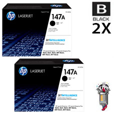 2 PACK Genuine Hewlett Packard HP147A Black Inkjet Cartridge