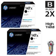 2 PACK Genuine Hewlett Packard HP147X High Yield Black Inkjet Cartridge