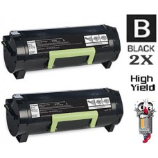 2 PACK Lexmark 53B1H00 High Yield Toner Cartridges Premium Compatible