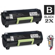 2 Piece Bulk Set Lexmark 60F1000 Toner Cartridges Premium Compatible