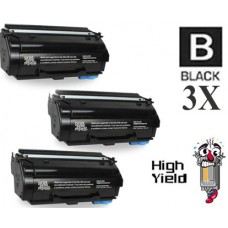 3 Piece Bulk Set Genuine Original Lexmark 55B1H00 High Yield Return Program Toner Cartridge