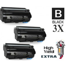 3 Piece Bulk Set Genuine Original Lexmark 55B1X00 Extra High Yield Return Program Toner Cartridge