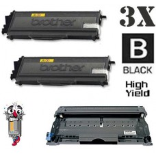 3 Piece Bulk Set Brother TN360 DR360 combo Laser Toner Cartridges Premium Compatible