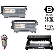 3 Piece Bulk Set Brother TN450 DR420 combo Laser Toner Cartridges Premium Compatible