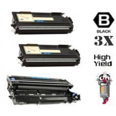 3 Piece Bulk Set Brother TN460 DR400 combo Laser Toner Cartridges Premium Compatible