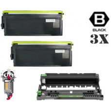 3 Piece Bulk Set Brother TN560 DR500 combo Laser Toner Cartridges Premium Compatible