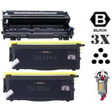 3 Piece Bulk Set Brother TN570 DR510 combo Laser Toner Cartridges Premium Compatible