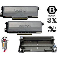 3 Piece Bulk Set Brother TN650 DR620 combo Laser Toner Cartridges Premium Compatible