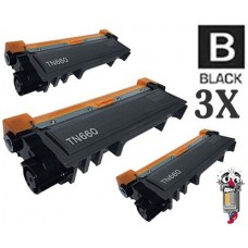 3 Piece Bulk Set Brother TN660 High Yield combo Laser Toner Cartridges Premium Compatible