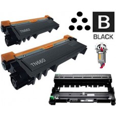3 Piece Bulk Set Brother TN660 DR630 combo Laser Toner Cartridges Premium Compatible