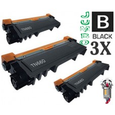 3 Piece Bulk Set Brother TN660X Jumbo High Yield combo Laser Toner Cartridges Premium Compatible