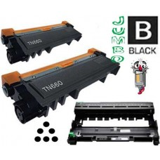 3 Piece Bulk Set Brother TN660X DR630 combo Laser Toner Cartridges Premium Compatible