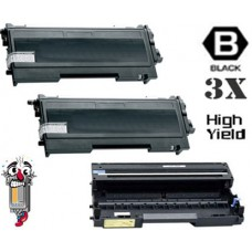 3 Piece Bulk Set Brother TN670 DR600 combo Laser Toner Cartridges Premium Compatible