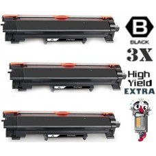 3 Piece Bulk Set Brother TN760XXL Super High Yield combo Laser Toner Cartridges Premium Compatible