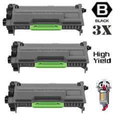 3 Piece Bulk Set Brother TN880 Extra High Yield combo Laser Toner Cartridges Premium Compatible