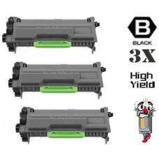 3 Piece Bulk Set Brother TN890 Super High Yield combo Laser Toner Cartridges Premium Compatible