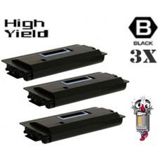 3 Piece Bulk Set Genuine Original Copystar 370AB016 Black combo Laser Toner Cartridges
