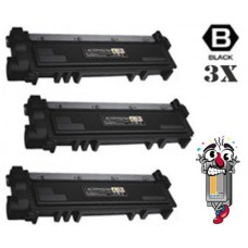 3 Piece Bulk Set Dell CVXGF combo Laser Toner Cartridges Premium Compatible