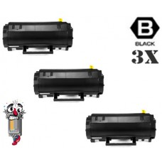 3 Piece Bulk Set Dell M11XH (331-9803) High Yield Black combo Laser Toner Cartridge Premium Compatible
