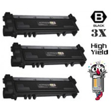 3 Piece Bulk Set Dell P7RMX combo Laser Toner Cartridges Premium Compatible
