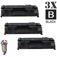 3 Piece Bulk Set Hewlett Packard CE505A HP05A combo Laser Toner Cartridges Premium Compatible