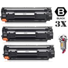 3 PACK Hewlett Packard CB436A HP36A combo Laser Toner Cartridges Premium Compatible