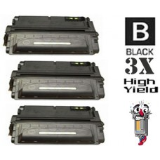 3 Piece Bulk Set Hewlett Packard Q1338X HP38X High Yield combo Laser Toner Cartridges Premium Compatible