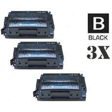3 Piece Bulk Set Hewlett Packard Q5942A HP42A combo Laser Toner Cartridges Premium Compatible