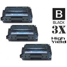 3 Piece Bulk Set Hewlett Packard Q5942X HP42X High Yield combo Laser Toner Cartridges Premium Compatible