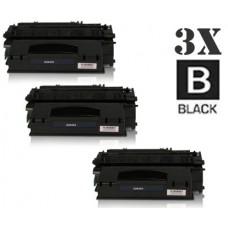 3 Piece Bulk Set Hewlett Packard Q5949A HP49A combo Laser Toner Cartridges Premium Compatible