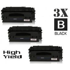3 Piece Bulk Set Hewlett Packard Q5949X HP49X High Yield combo Laser Toner Cartridges Premium Compatible