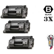 3 Piece Bulk Set Hewlett Packard CC364A HP64A combo Laser Toner Cartridges Premium Compatible