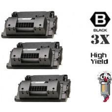 3 Piece Bulk Set Hewlett Packard CC364X HP64X High Yield combo Laser Toner Cartridges Premium Compatible