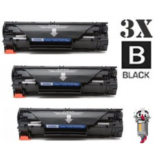 3 Piece Bulk Set Hewlett Packard CF283A HP83A combo Laser Toner Cartridges Premium Compatible